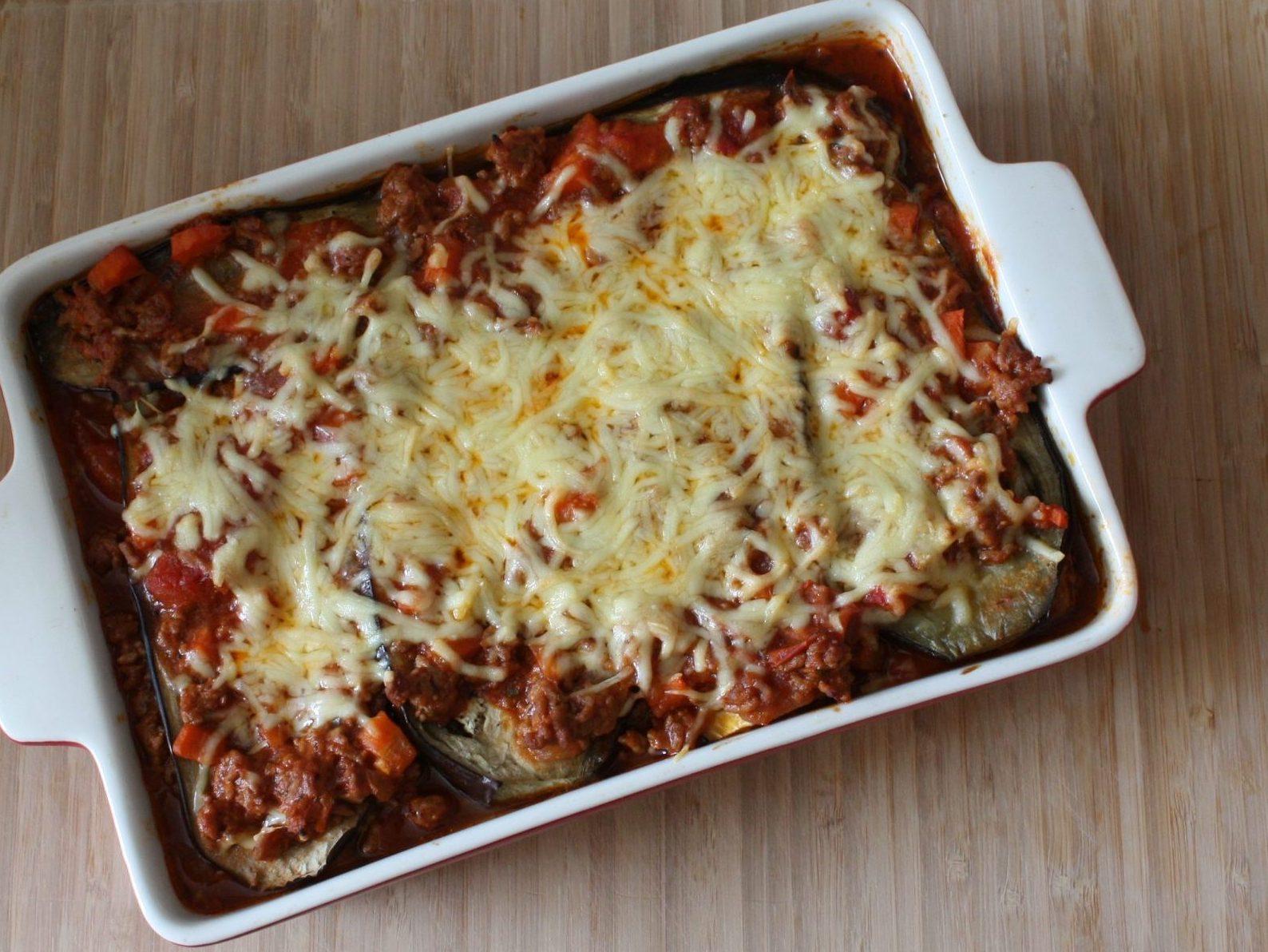 Delicious aubergine lasagne
