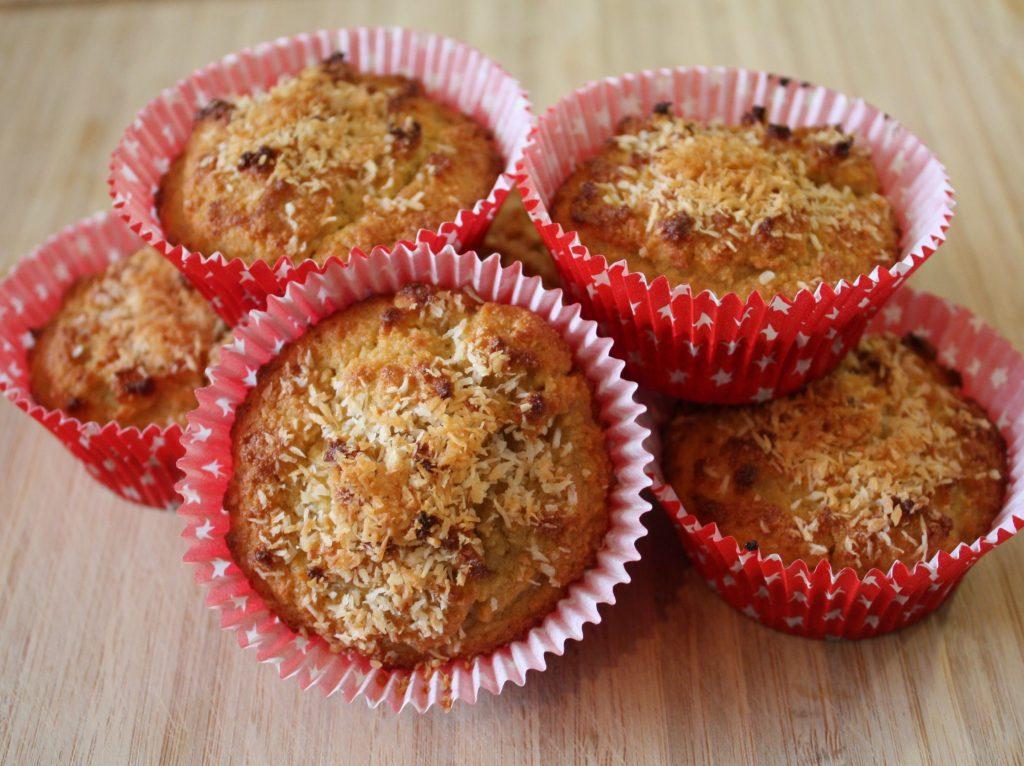 Delicious coconut muffins