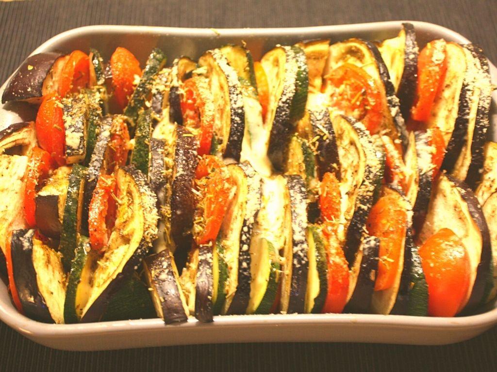 Gluten-free Mediterranean vegetable gratin