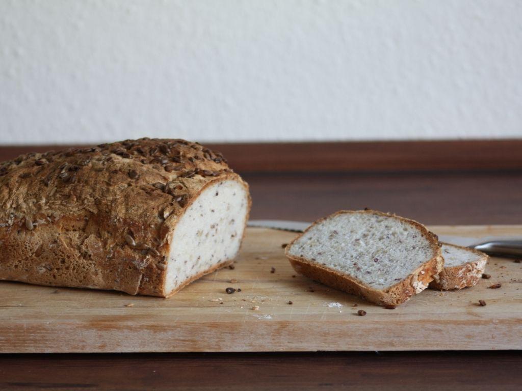 Gluten-free sunflower seed bread